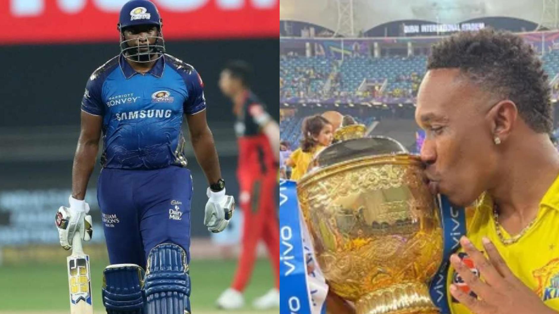 IPL 2021: Kieron Pollard congratulates Dwayne Bravo on overtaking him in T20 titles race