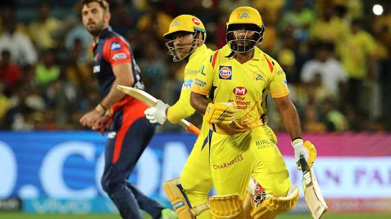 IPL 2018: Watch – MS Dhoni and Ambati Rayudu's bizarre run-out amuses CSK camp