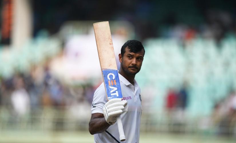 Mayank Agarwal scored double ton in Vizag | AFP