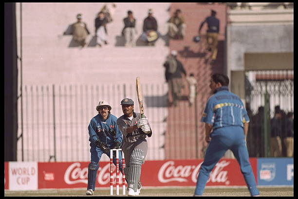 Saleem Raza was a star for UAE in the 1996 Cricket World Cup.(ICC)