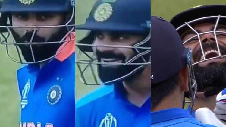 CWC 2019: WATCH - Virat Kohli's priceless reaction after MS Dhoni smashes a six off Mitchell Starc