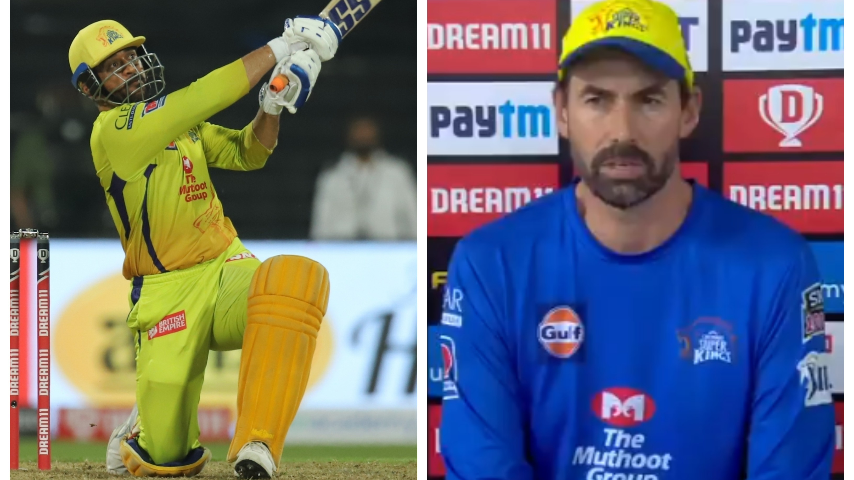 "IPL 2020: WATCH – ""It's a question"", query over MS Dhoni's batting position irks Stephen Fleming"