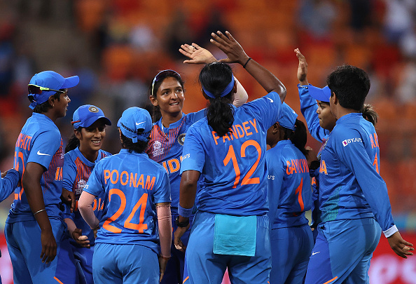 India Women celebrates their win over Australia | Getty Images
