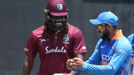 WI v IND 2019: WATCH - Virat Kohli, unaffected by rain, danced on the ground with Chris Gayle