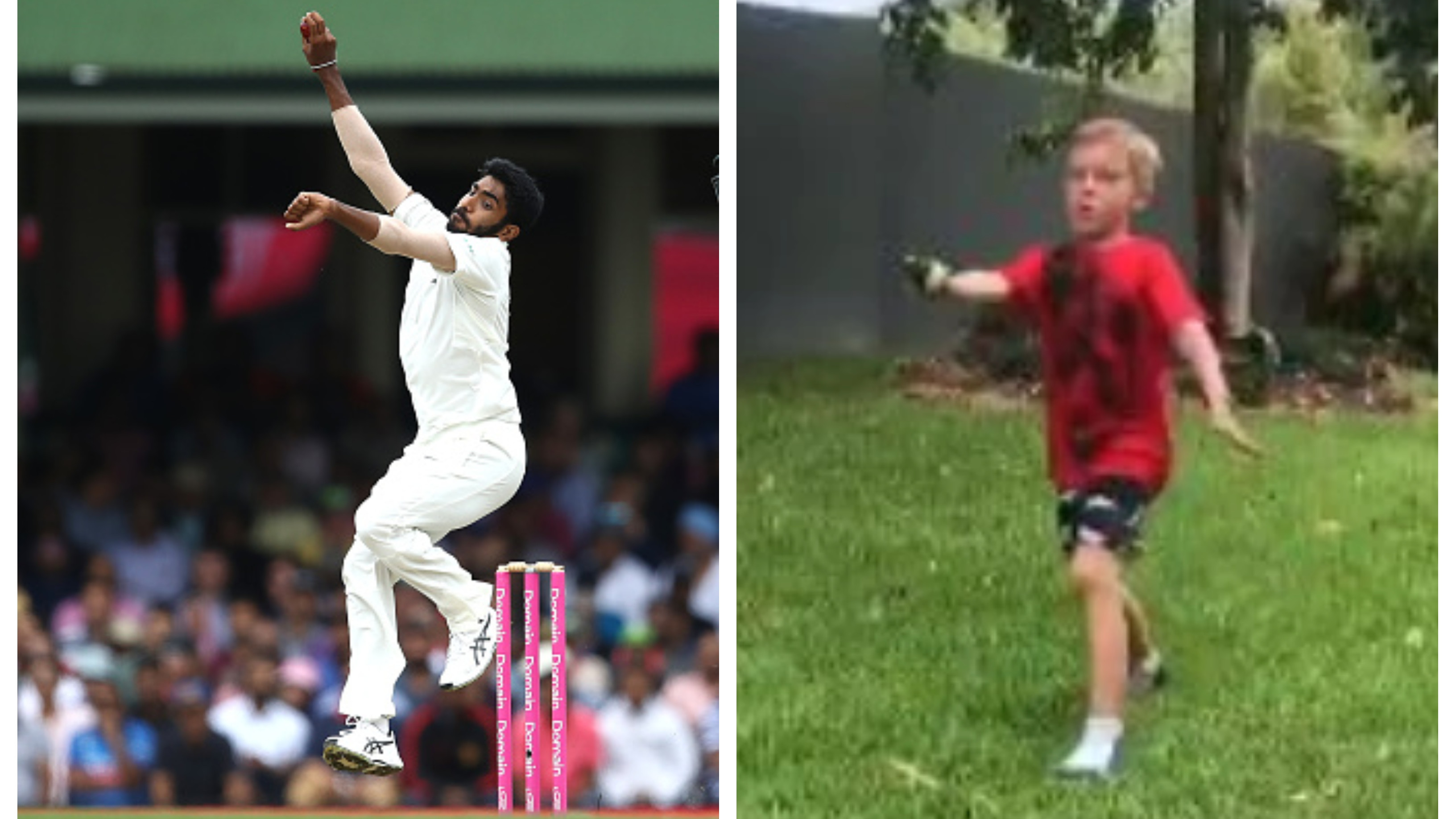 AUS v IND 2018-19: Jasprit Bumrah astounded by Australian kid imitating his bowling action