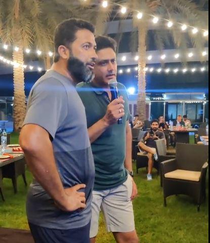 Jaffer and Kumble singing Kabhi Alvida na Kehna | PBKS Instagram