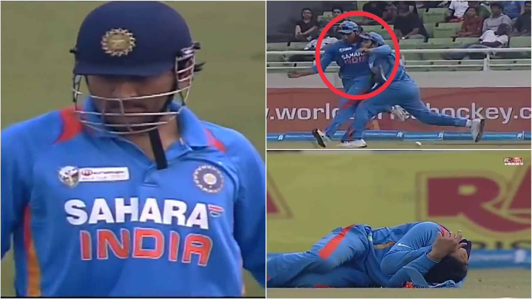 MS Dhoni angry as Rohit and Kohli collide