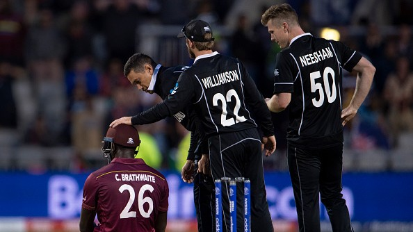 CWC 2019: This picture of Kane Williamson consoling Carlos Brathwaite has taken the internet by storm!
