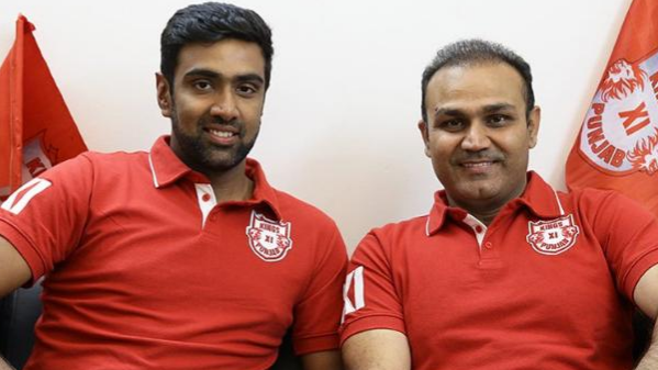 IPL 2018: R Ashwin and Virender Sehwag unveil KXIP's new jersey for the upcoming season