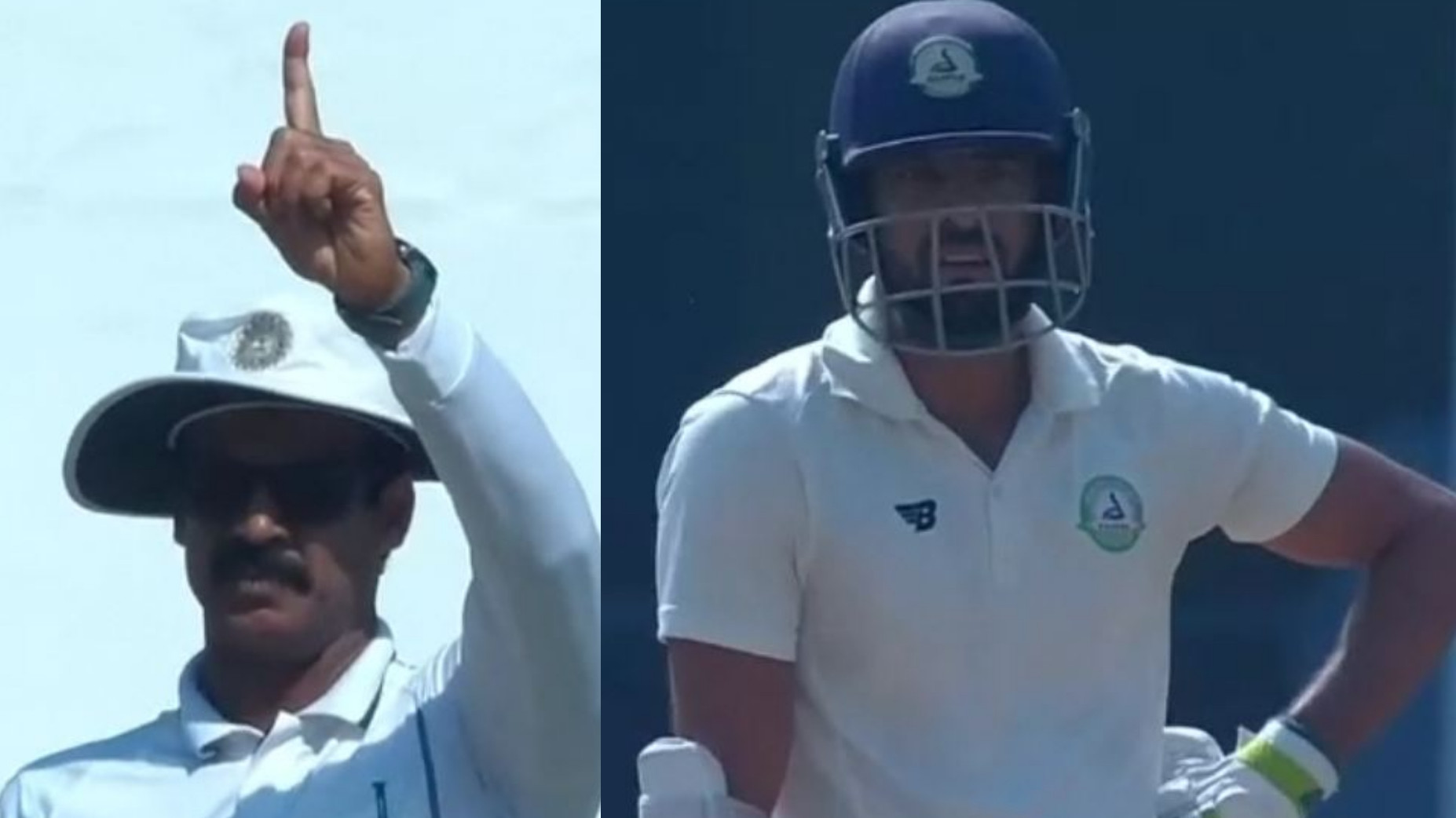WATCH – Umpire gives Vidarbha captain Faiz Fazal out in bizarre fashion in Irani Trophy tie