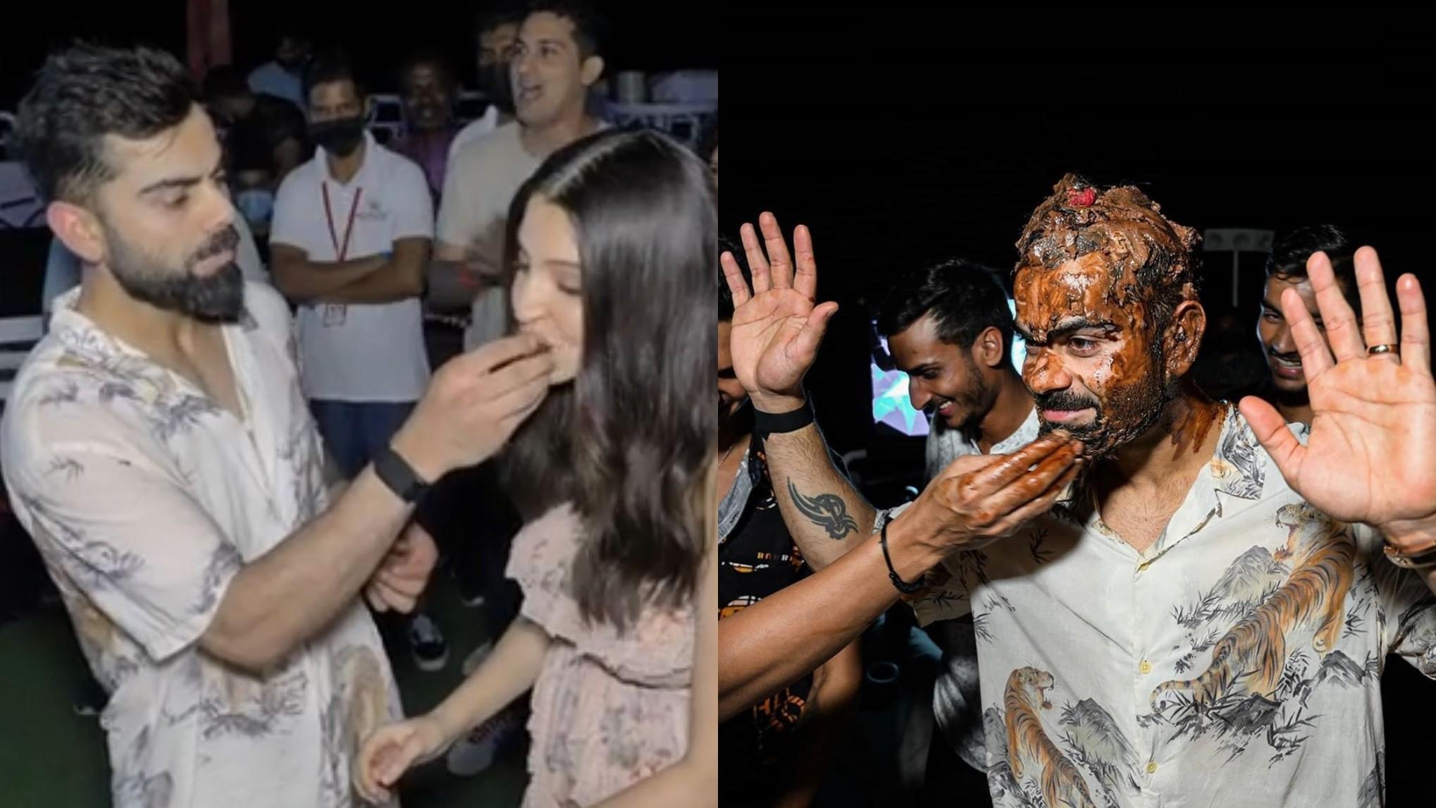 IPL 2020: WATCH- RCB players wish Virat Kohli on his birthday and smear him with cake afterwards