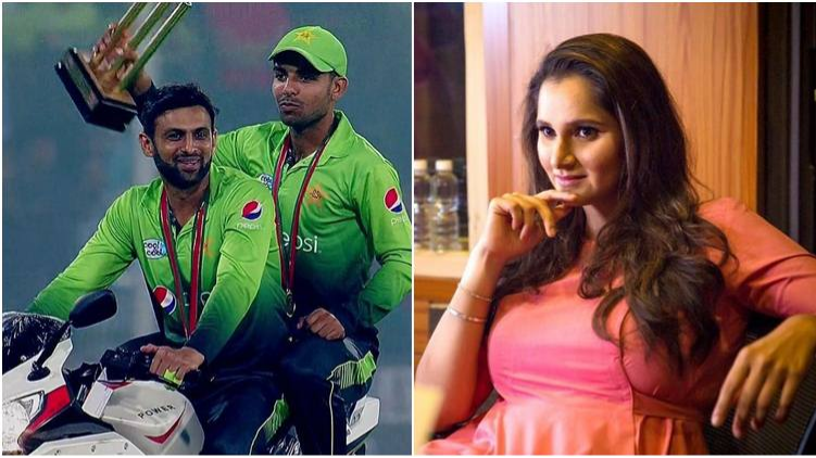 Sania Mirza congratulates Shoaib Malik after he gets to 2000 T20I runs