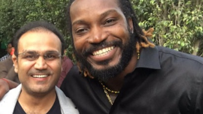 IPL 2018: Virender Sehwag gives a Punjabi name to West Indies cricketer Chris Gayle