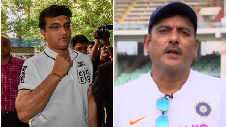 Sourav Ganguly comes up with a funny reply to journo's question about Ravi Shastri
