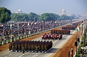 Indian Army Parade on Republic Day at Rajpath, New Delhi | Getty