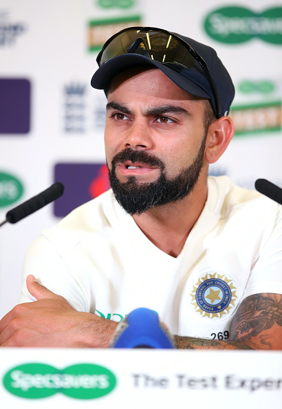 Kohli during a press conference at Trent Bridge | Getty