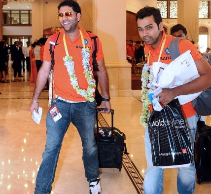 Yuvraj Singh and Rohit Sharma | Getty