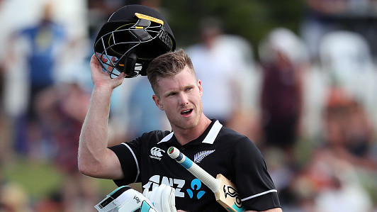 NZ v SL 2018-19: WATCH – Jimmy Neesham tees off on his Kiwi return; hits 5 sixes in a Thisara Perera over