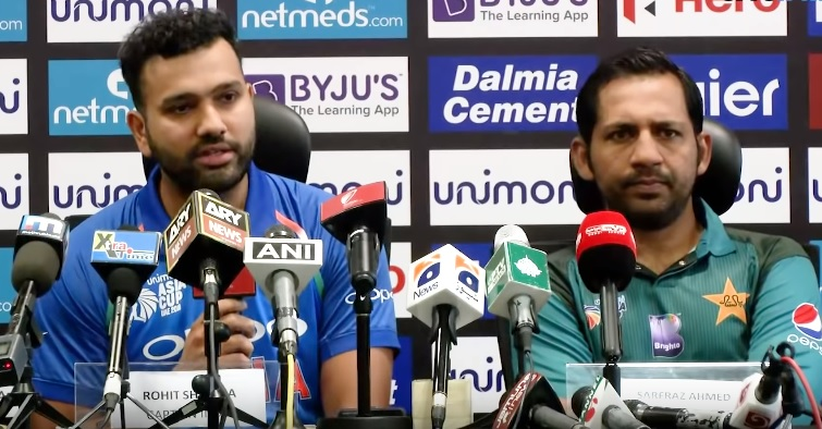 Rohit Sharma and Sarfraz Ahmed | Twitter