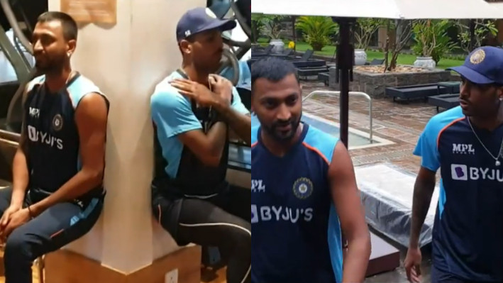 SL v IND 2021: WATCH - Pandya brothers get into a gym face-off with three tough challenges