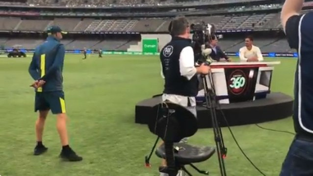 WATCH: Nathan Lyon looks for revenge after Mitchell Starc's prank on him the other day