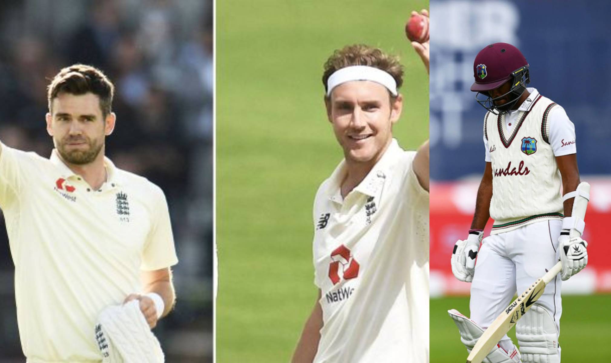 Kraigg Brathwaite is the 500th Test victim of both Anderson and Broad