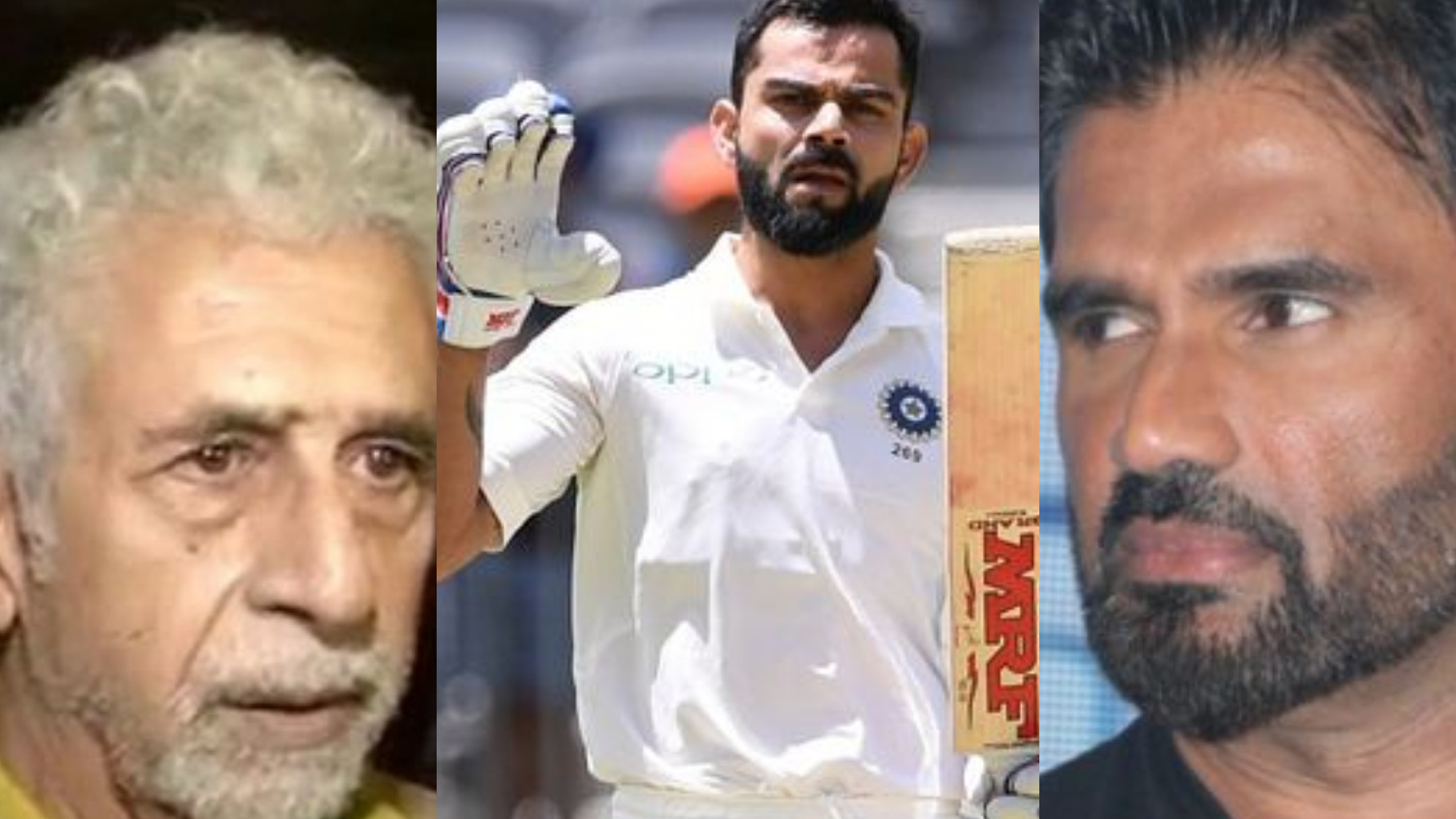 WATCH - Suniel Shetty replies in kind to Naseeruddin Shah's comments on Virat Kohli; calls him God of cricket