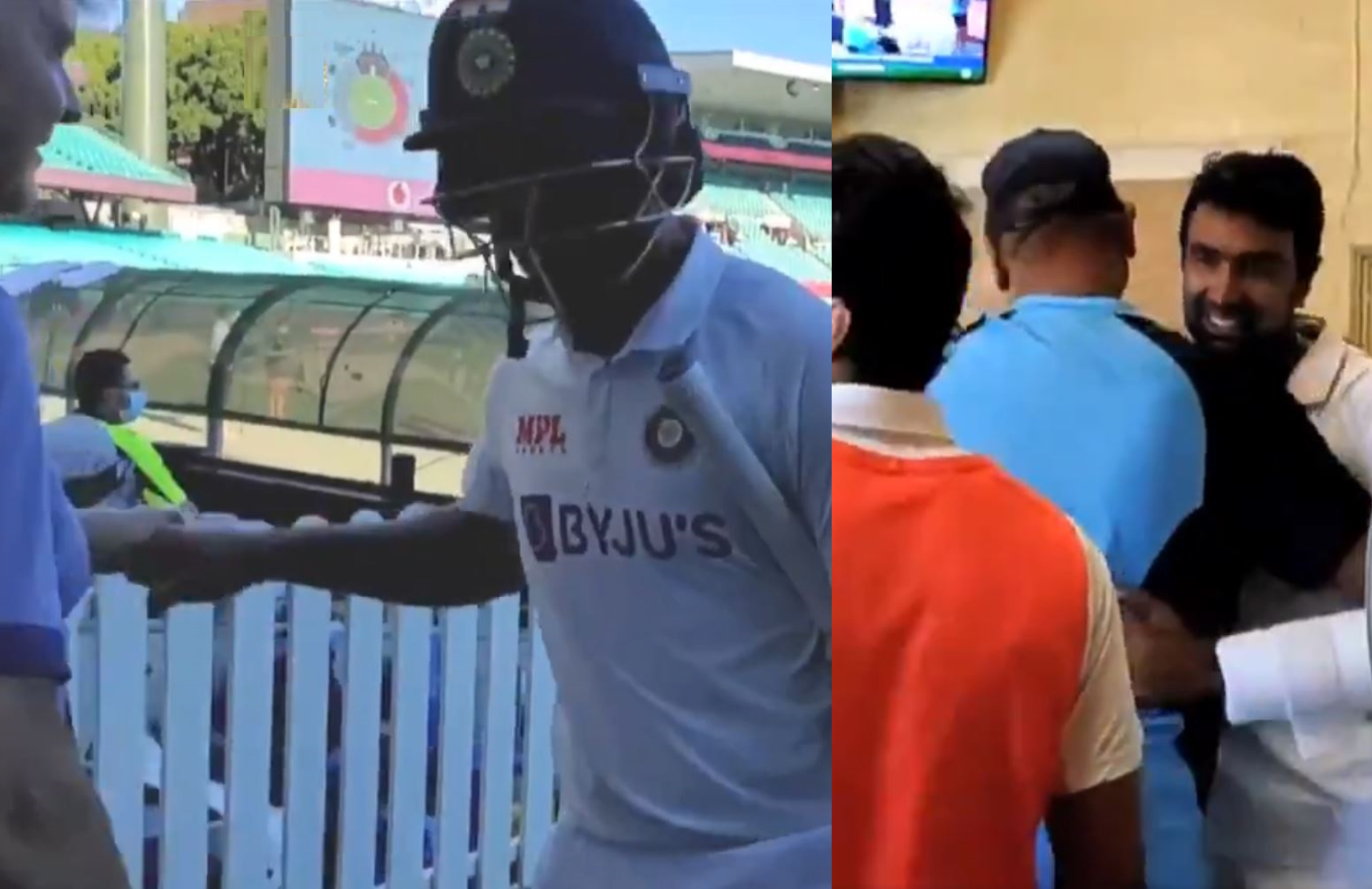 Vihari and Ashwin put on 62* runs in 258 balls at SCG to eek out a draw | BCCI Twitter