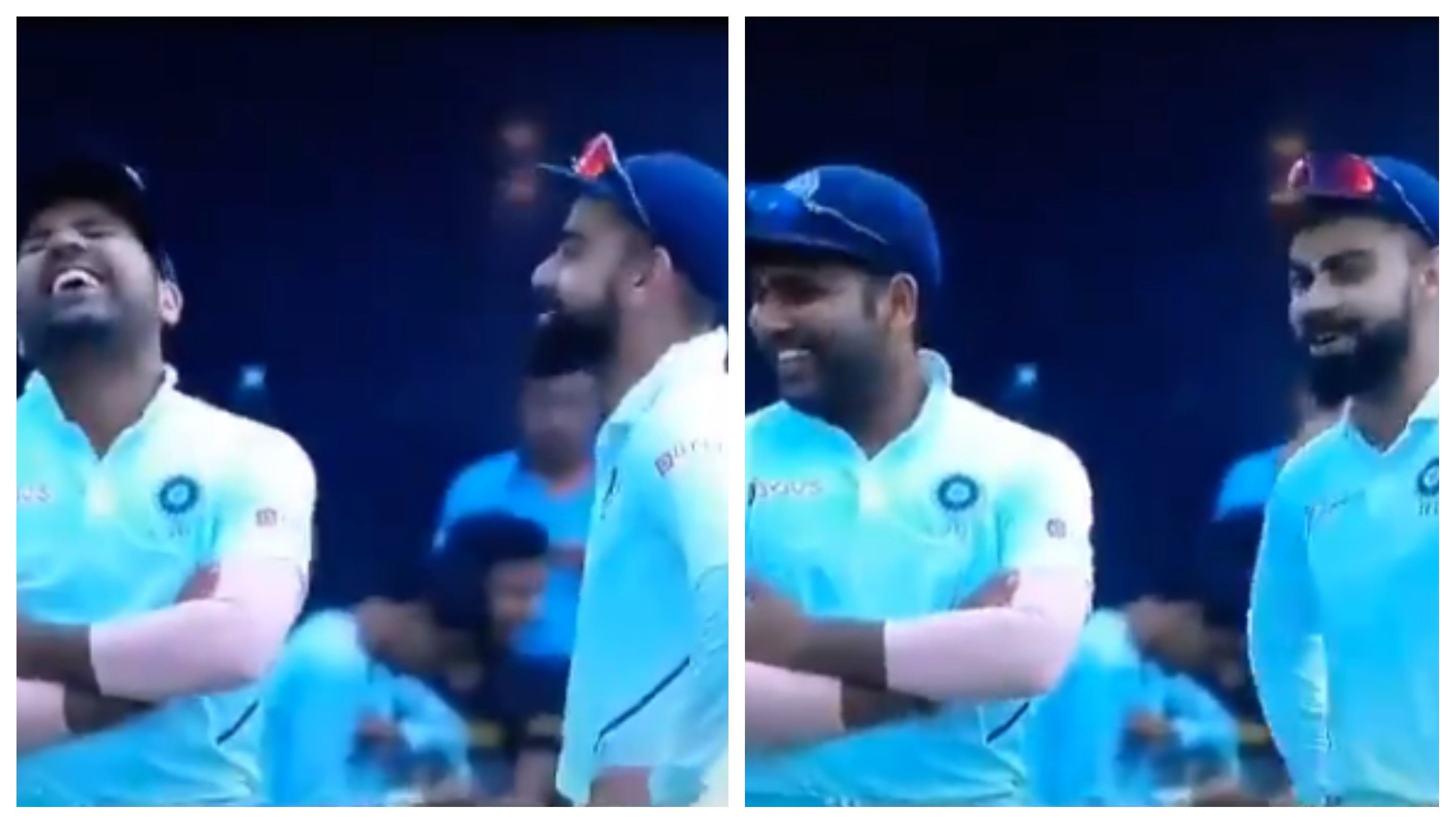 IND v SA 2019: WATCH – Kohli and Rohit's heartwarming laughter while fielding in the slip cordon