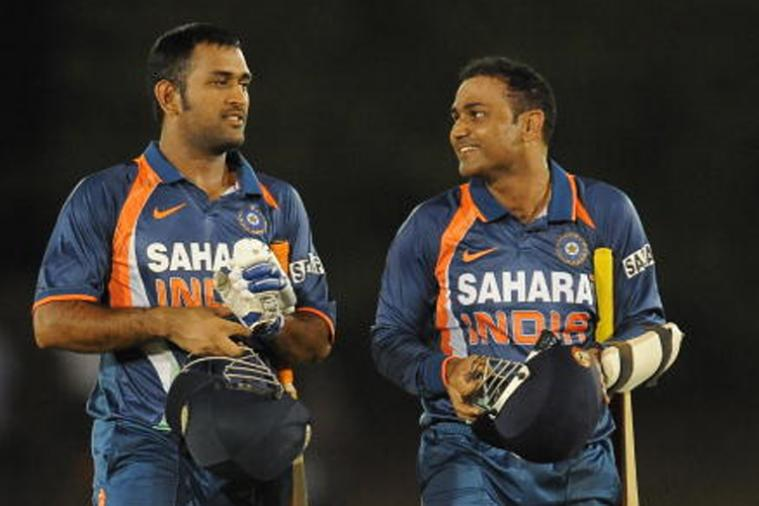 MS Dhoni and Virender Sehwag during their Team India time | Getty