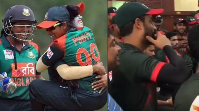 WATCH: Bangladesh men cricketers celebrate women's team Asia cup triumph against India