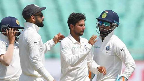 IND v WI 2018: 1st Test, Day 3- West Indies commit hara-kiri as Kuldeep 5/57 gives India win by inns and 272 runs