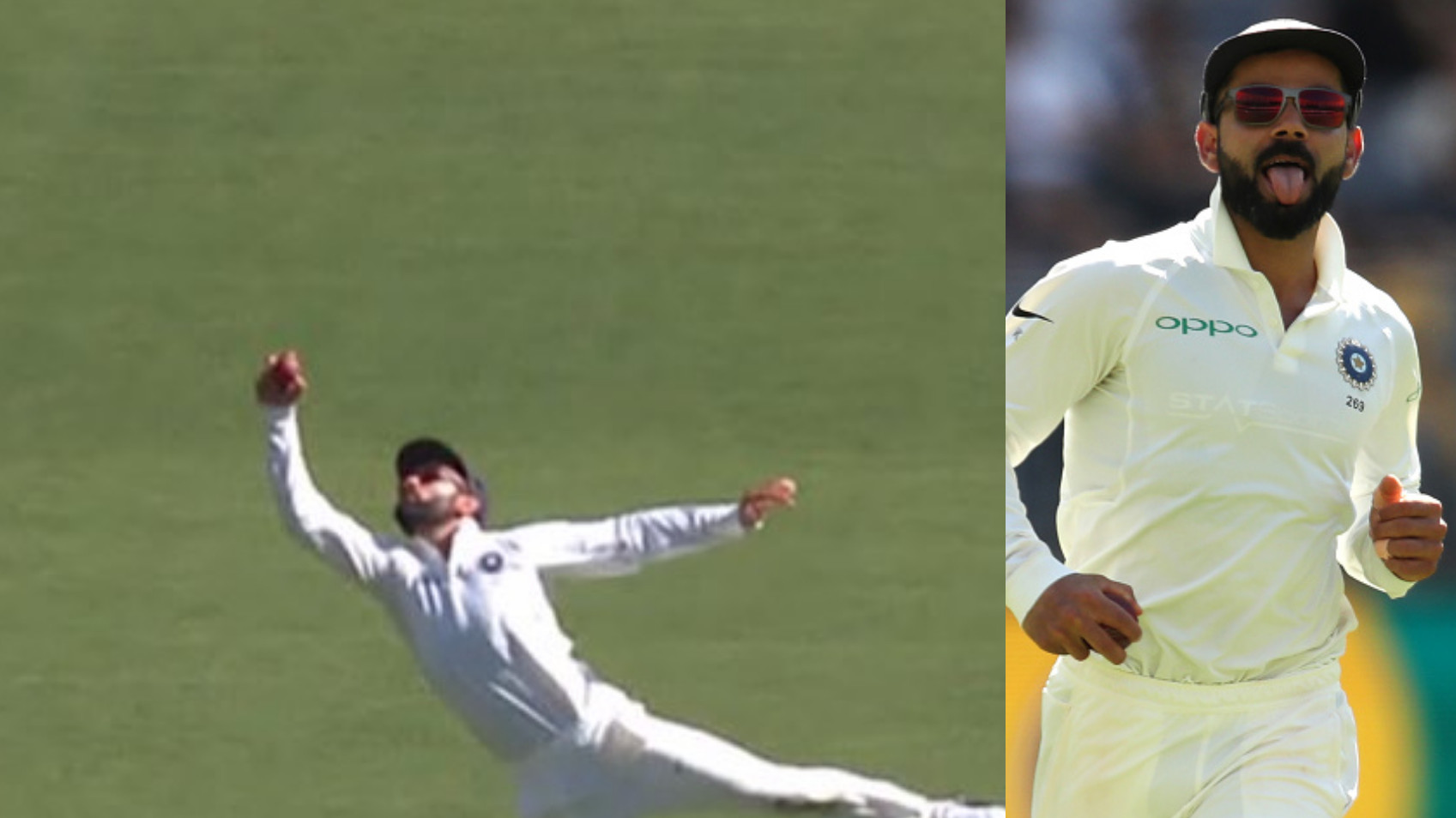 AUS v IND 2018-19: WATCH – Virat Kohli takes a one-handed blinder to remove Peter Handscomb
