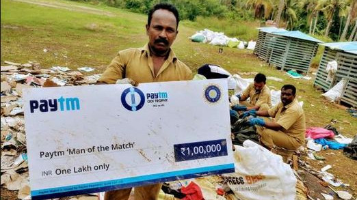 BCCI asked to consider green option for felicitating players after Man of the Match cheque found in garbage