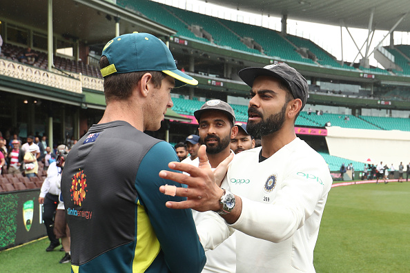 Tim Paine congratulates Kohli on historic win | Getty Images