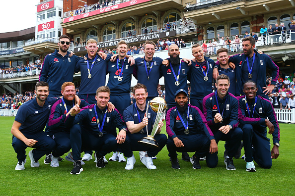 England poses with World Cup 2019 trophy | Getty Images