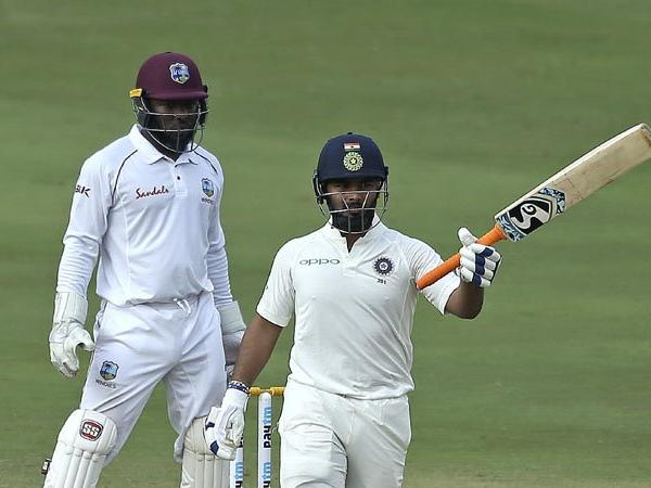 Rishabh Pant's whirlwind 85* put India in control of the second Test against the Windies | AP