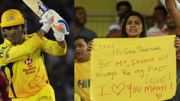 IPL2018: MS Dhoni's female fan has a special message for her future husband