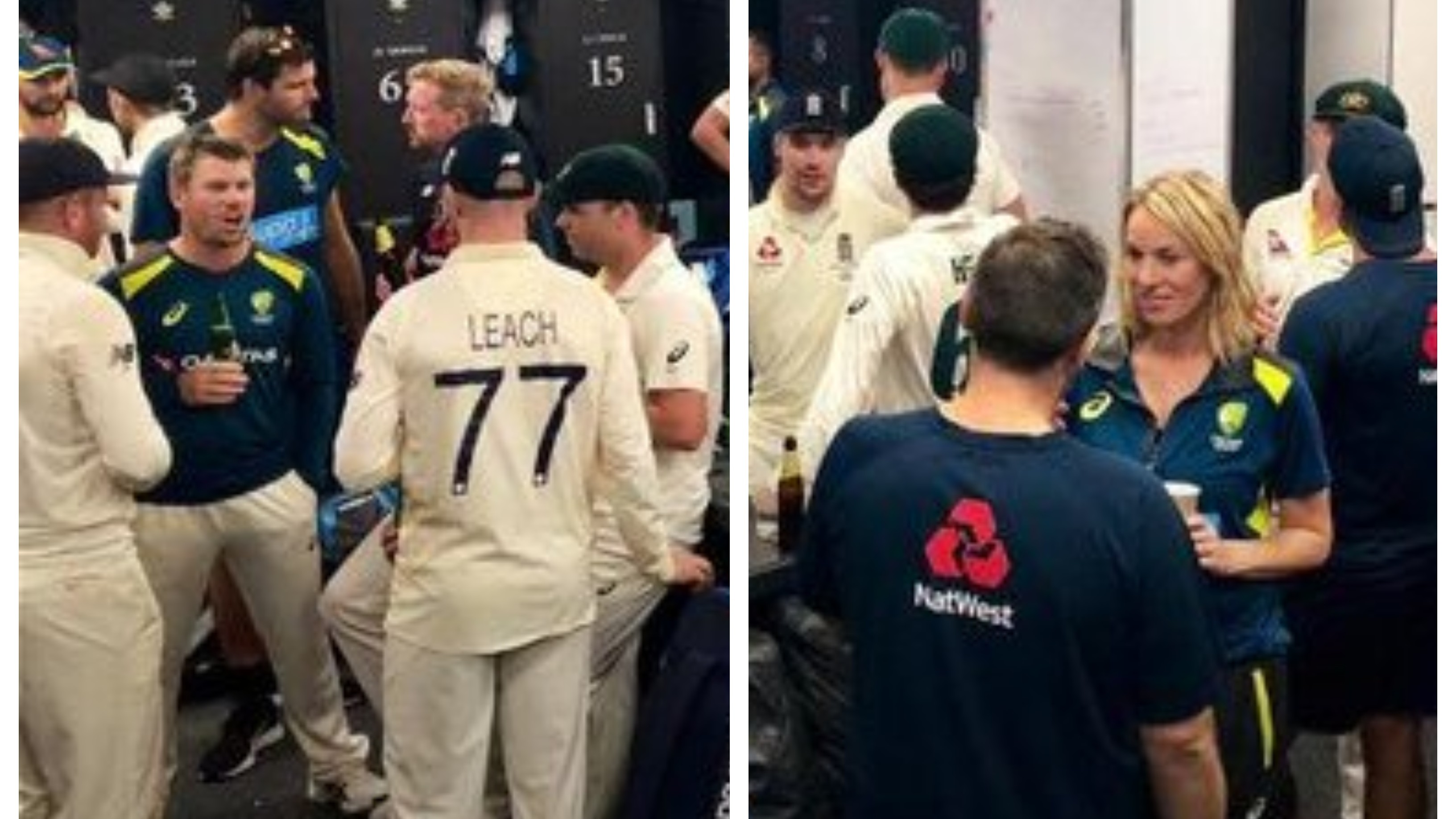 ASHES 2019: WATCH – England, Australia players come together in a single dressing room after compelling series