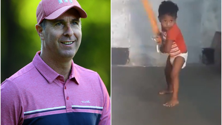 WATCH: Michael Vaughan surprised with batting skills of a toddler