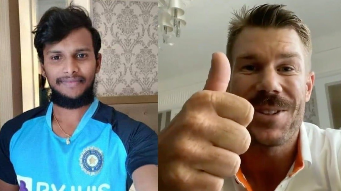 AUS v IND 2020-21: David Warner congratulates his SRH teammate T Natarajan on maiden India call-up
