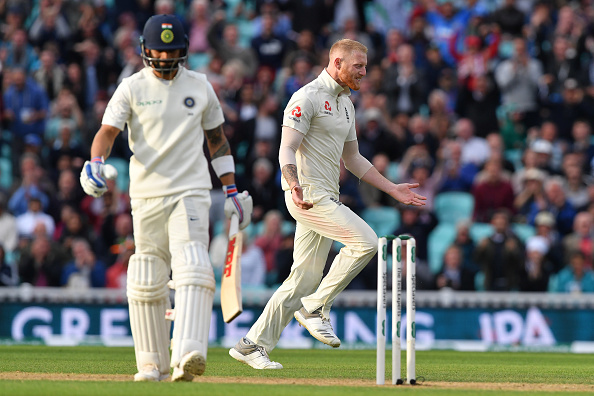 Ben Stokes removed Virat Kohli for 49 | Getty