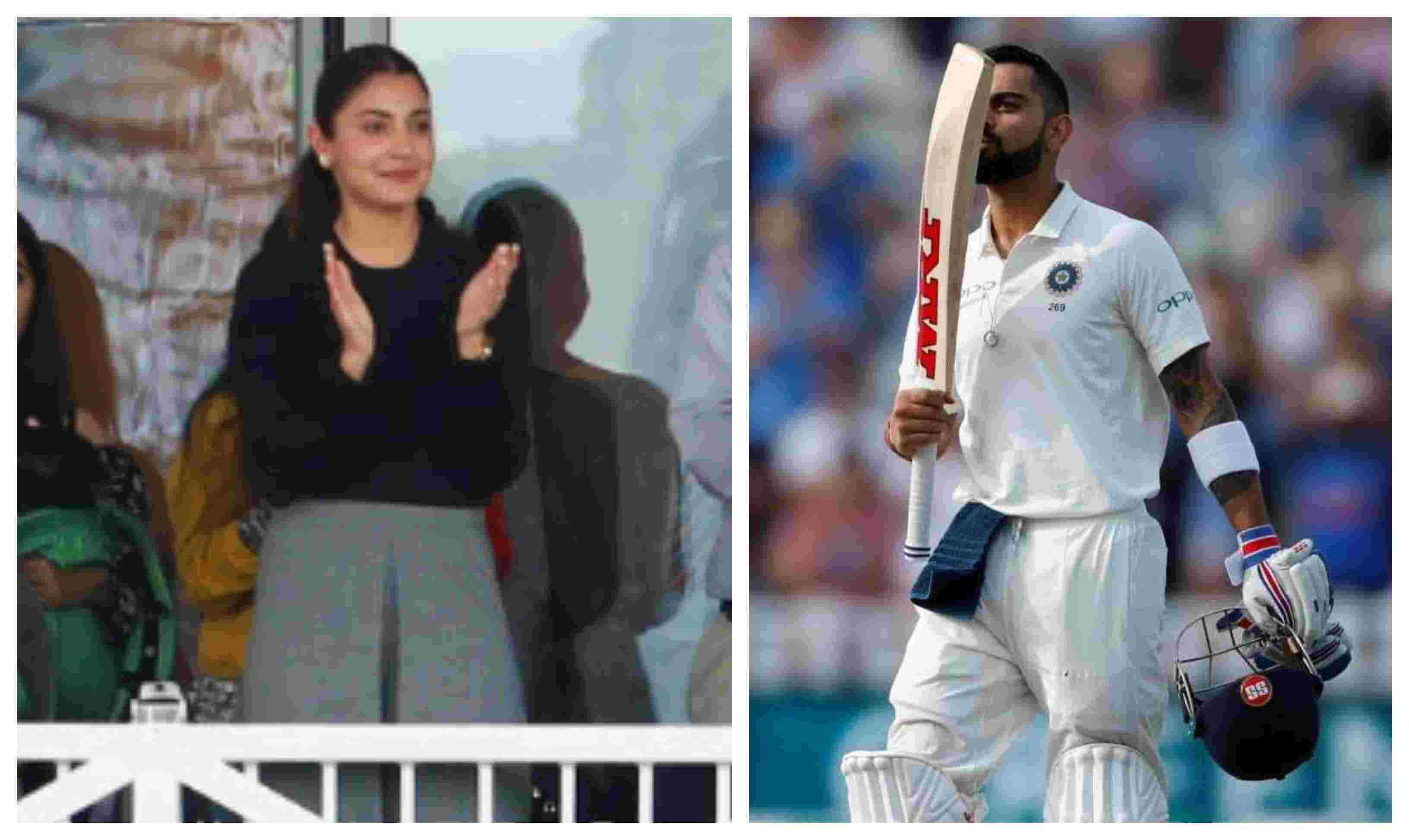 Virat Kohli's flying kiss to Anushka Sharma