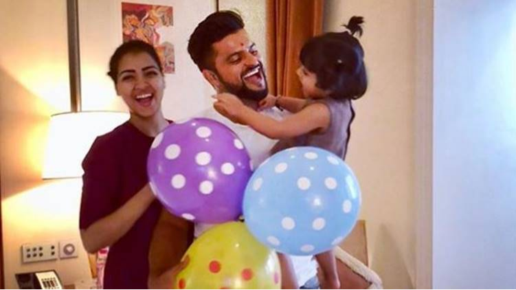 WATCH: MS Dhoni joins the birthday celebration of Suresh Raina's 2-year-old daughter Gracia