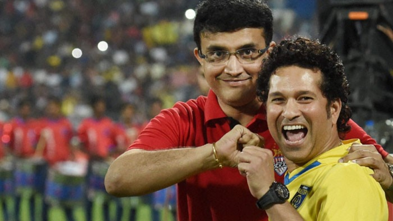 Sachin Tendulkar tweets his birthday wish for Sourav Ganguly in Bengali