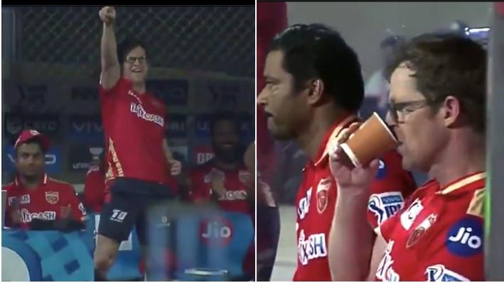 IPL 2021: WATCH - Jonty Rhodes' change in emotions inside three balls after Punjab Kings drop catches