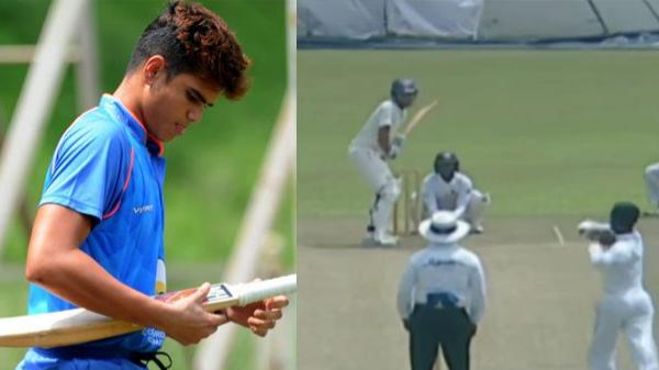 WATCH - Arjun Tendulkar gets out on a duck on India U-19 debut; emulates his father Sachin Tendulkar