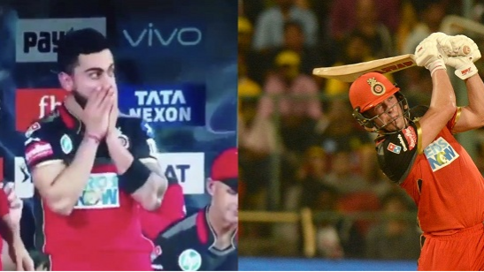 IPL 2018: Watch- Virat Kohli's fan boy moment after AB de Villiers' three back to back sixes