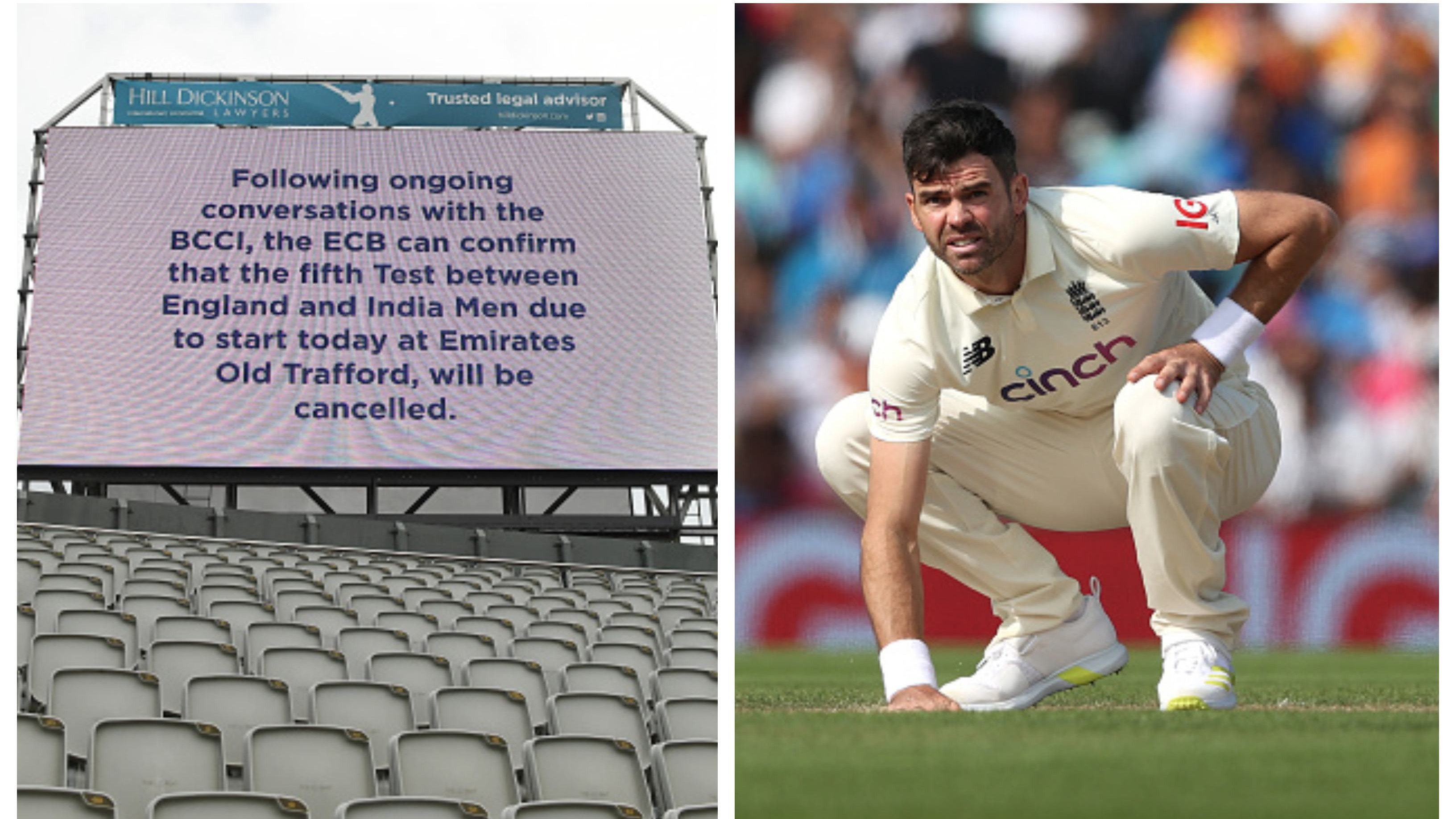 ENG v IND 2021: James Anderson 'gutted' by cancellation of 5th Test at his 'home ground' Old Trafford