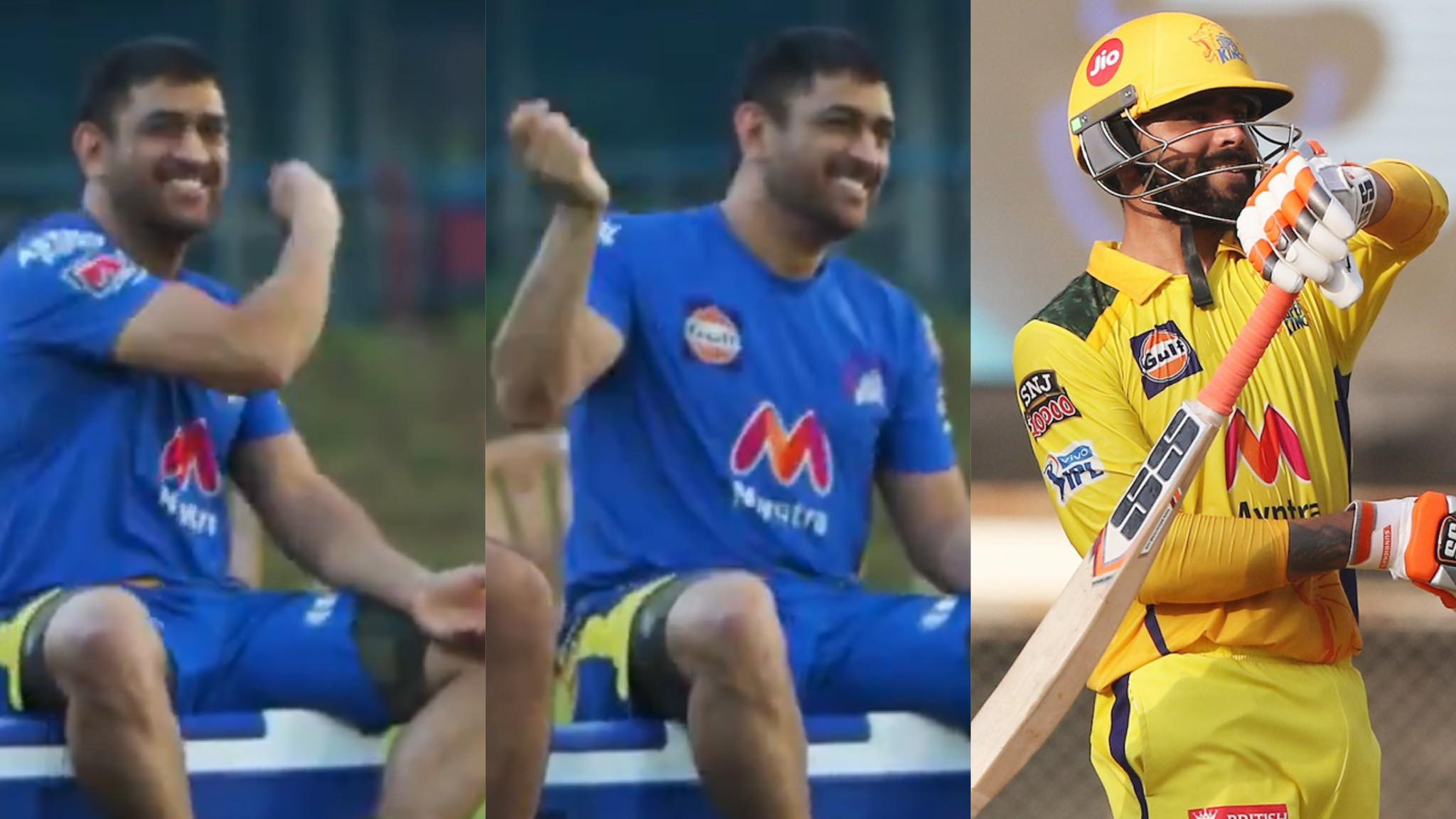 IPL 2021: WATCH- MS Dhoni imitates Ravindra Jadeja's sword celebration
